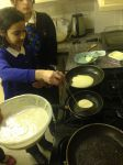 Making pancakes at Junior Club 17.02.15.JPG